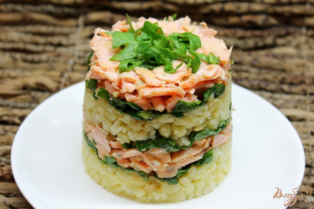 Салат красная рыба огурец картошка