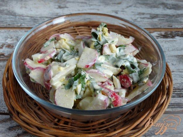 фото рецепта: Салат с черемшой и редисом