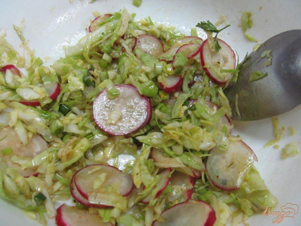 Легкий салат с капустой рецепт пошагово