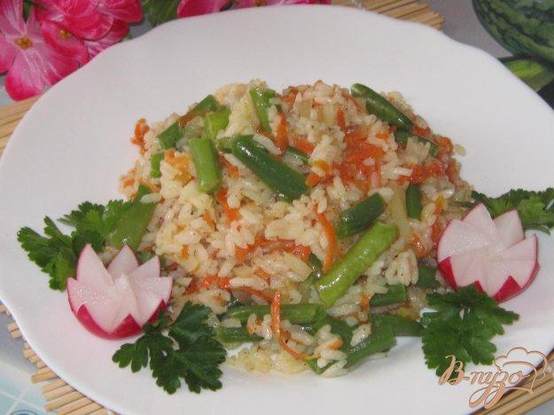 фото рецепта: Рис с зеленой фасолью