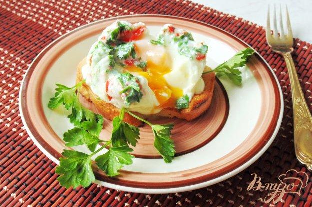 фото рецепта: Яйцо пашот с перцем и зеленью