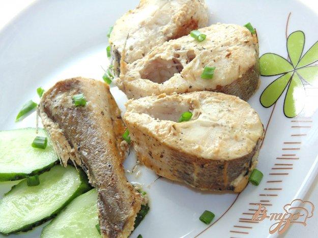 фото рецепта: Хек в маринаде из сметаны с соевым соусом