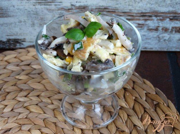 Салат из грибов и кальмаров рецепт