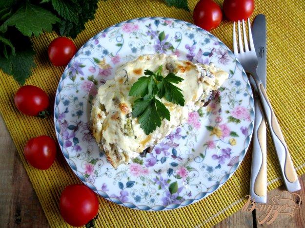 фото рецепта: Кабачки с шампиньонами и картофелем
