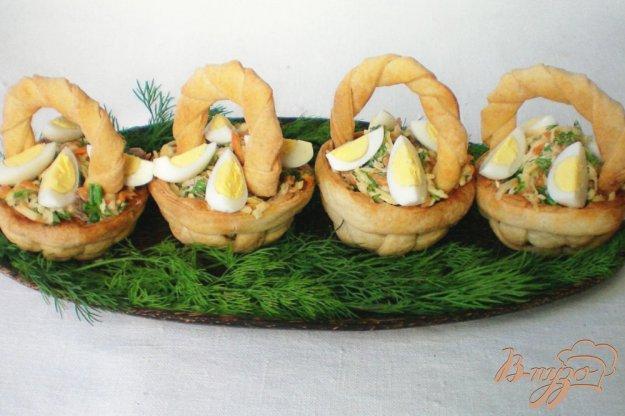 фото рецепта: Мясной салат в корзиночках