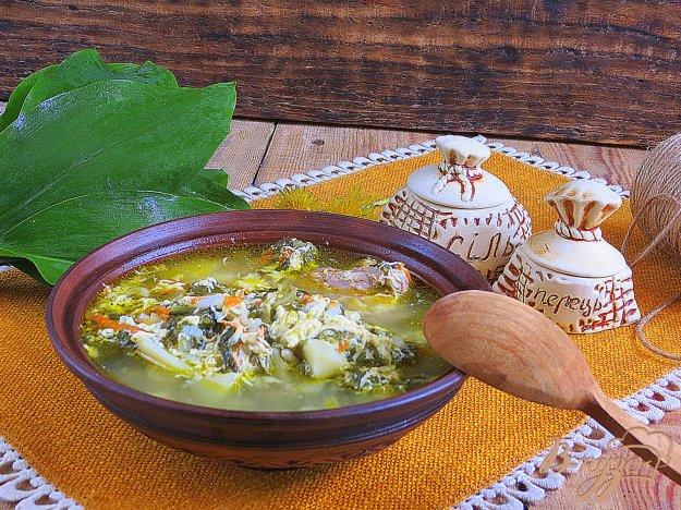 фото рецепта: Щавелевый суп от бабушки