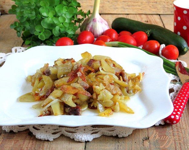 фото рецепта: Картофель жареный на свиной грудинке