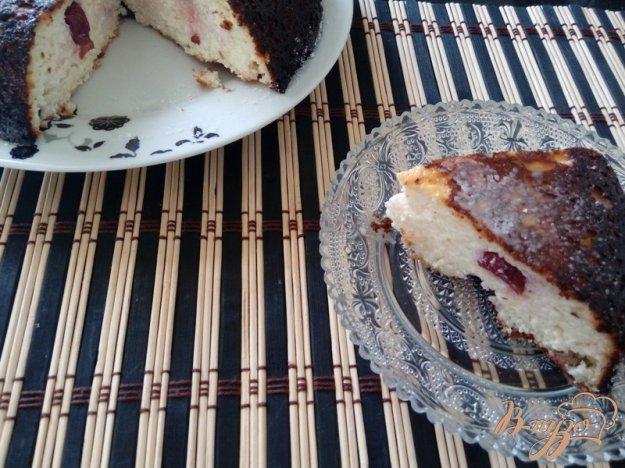 фото рецепта: Запеканка из творога с вишнями