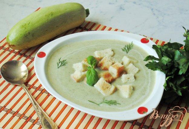 фото рецепта: Суп-пюре с кабачком и грибами