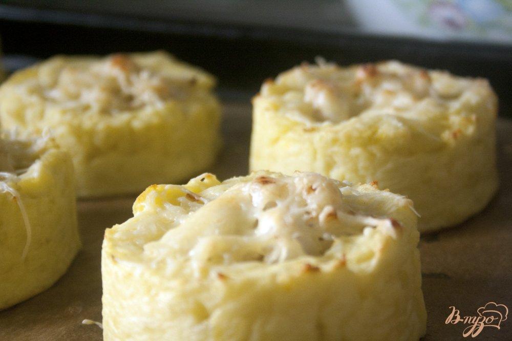 Фото приготовление рецепта: Картофельные гнезда с курицей шаг №10
