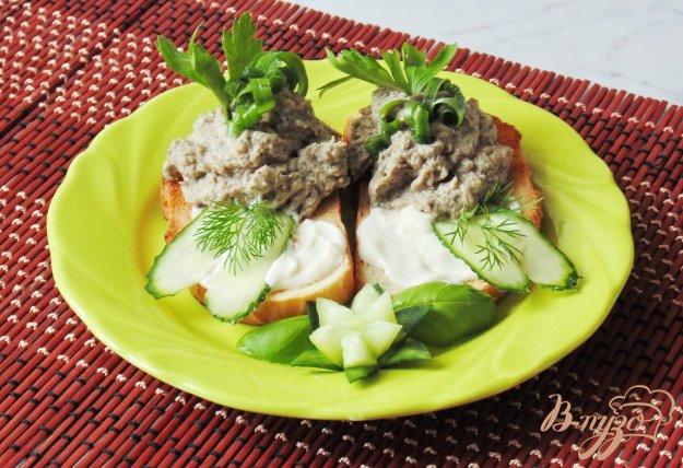 фото рецепта: Паштет из отварной курицы и шампиньонов