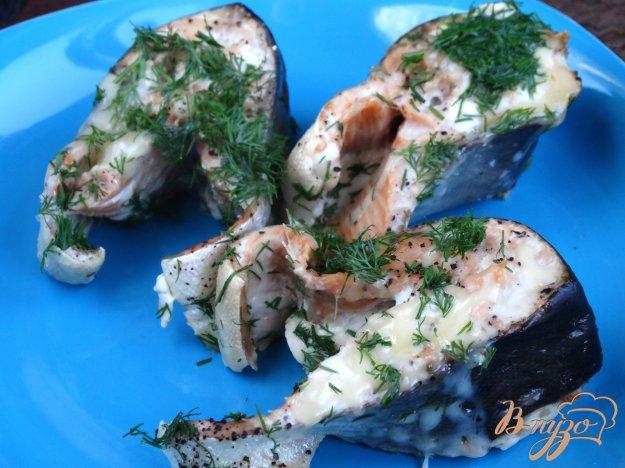 фото рецепта: Горбуша запеченная с сыром и укропом