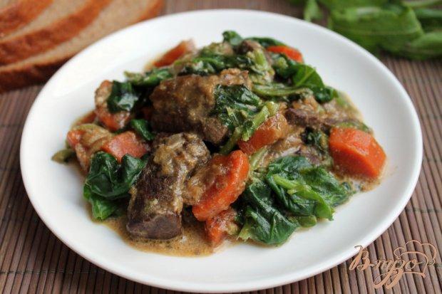 Рецепты печень говяжья с овощами рецепт с пошагово