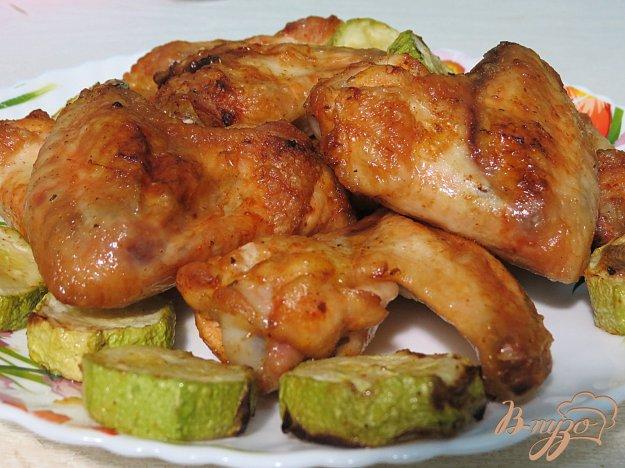 Приготовить куриные крылышки на сковороде гриль