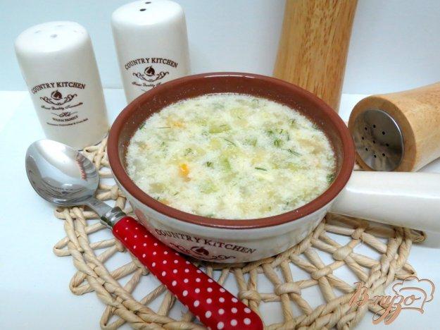 фото рецепта: Суп с кабачками с молоком
