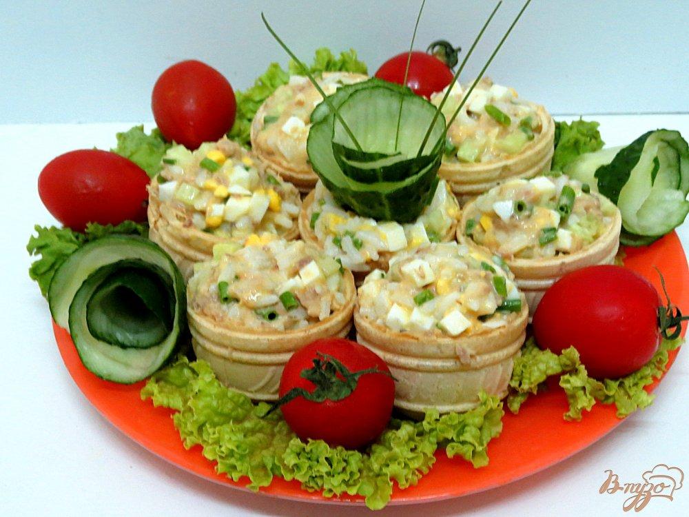 Рецепты овощных салатов для тарталеток с