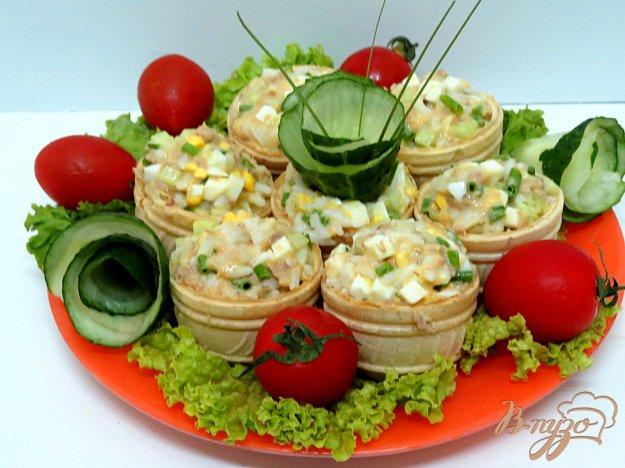 Тарталетки с рыбными консервами рецепты с фото
