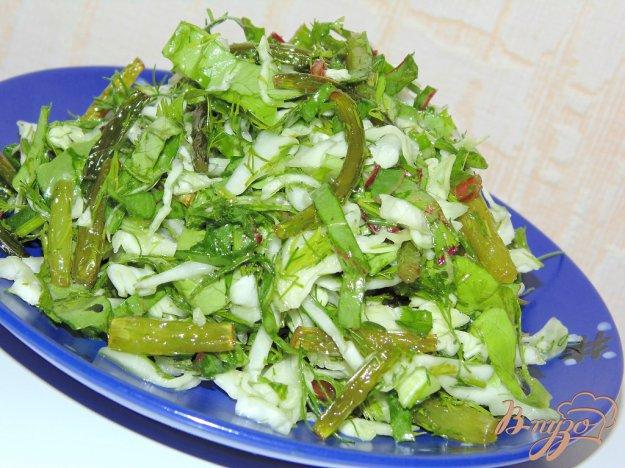Салат из стрелок чеснока рецепт с