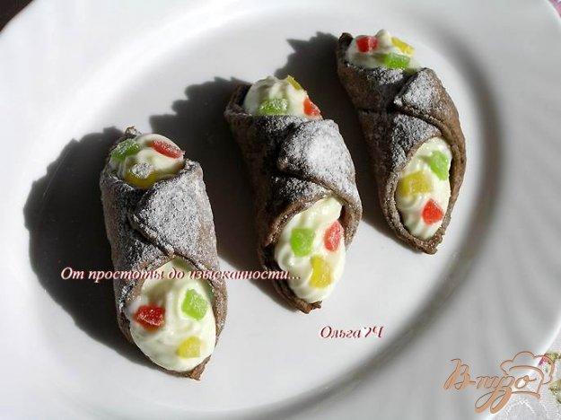 фото рецепта: Вафли-канноли а-ля Сицилия