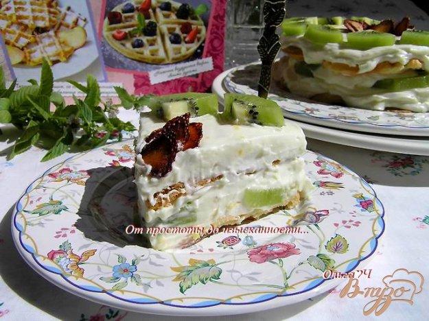 фото рецепта: Вафельный торт с маскарпоне