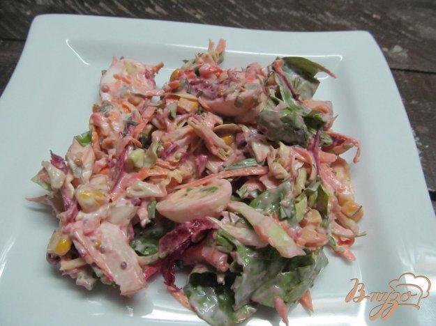 фото рецепта: Овощной салат с копченной курицей