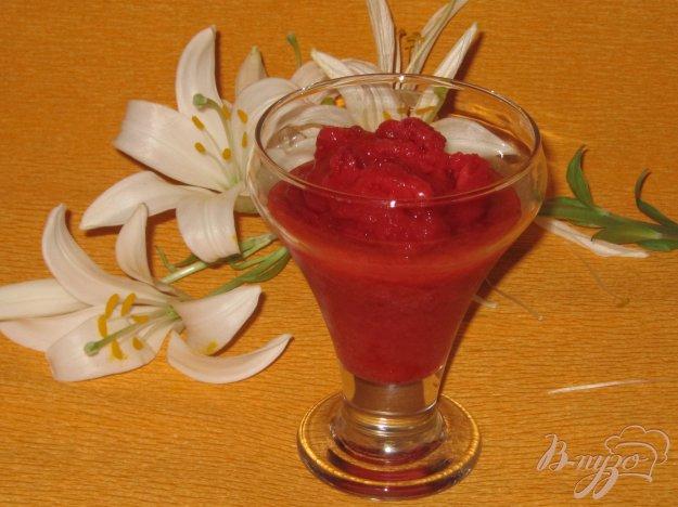 фото рецепта: Клубнично-вишневый сорбет на зиму