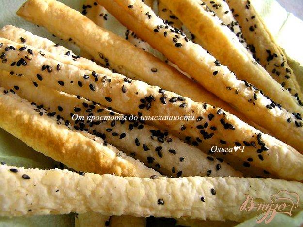 фото рецепта: Слоеные палочки с кунжутом