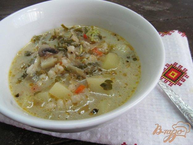 фото рецепта: Щи с грибами и кислой капустой