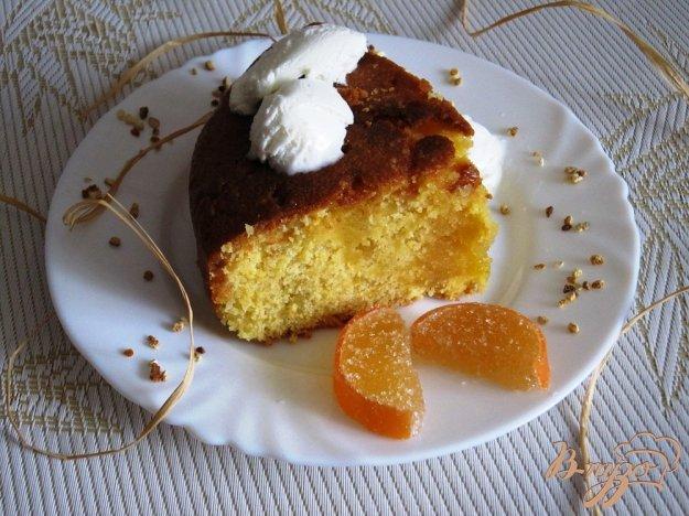 фото рецепта: Цитрусовый пирог с кукурузной мукой