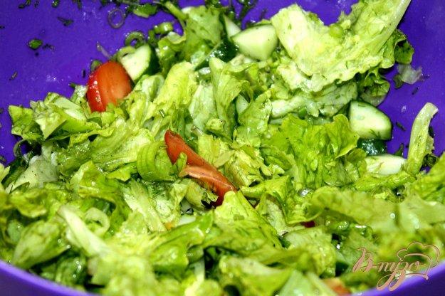 фото рецепта: Микс салат с огурцами и помидорами
