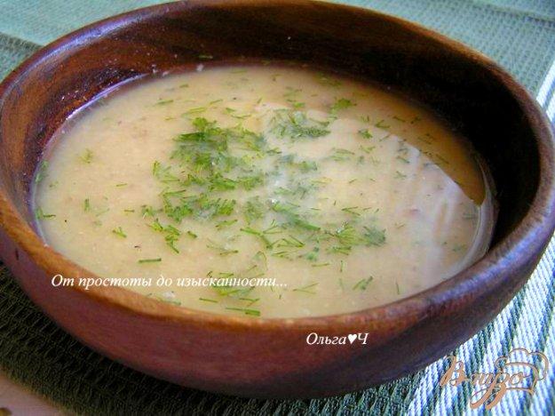 фото рецепта: Гороховый суп-пюре с сайрой