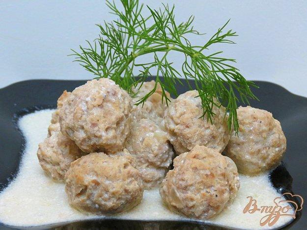 фото рецепта: Фрикадельки в сметанном соусе