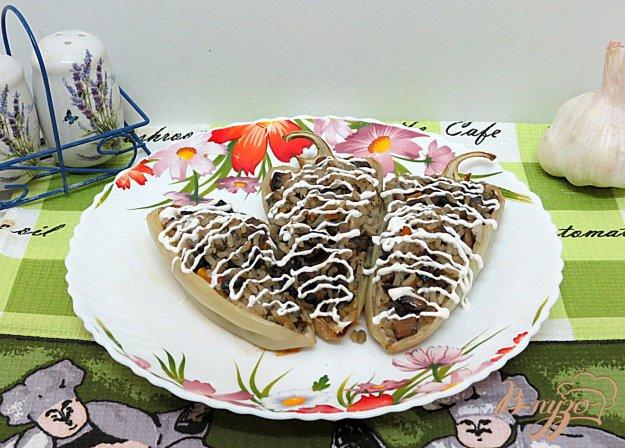 фото рецепта: Перец фаршированный грибами и рисом