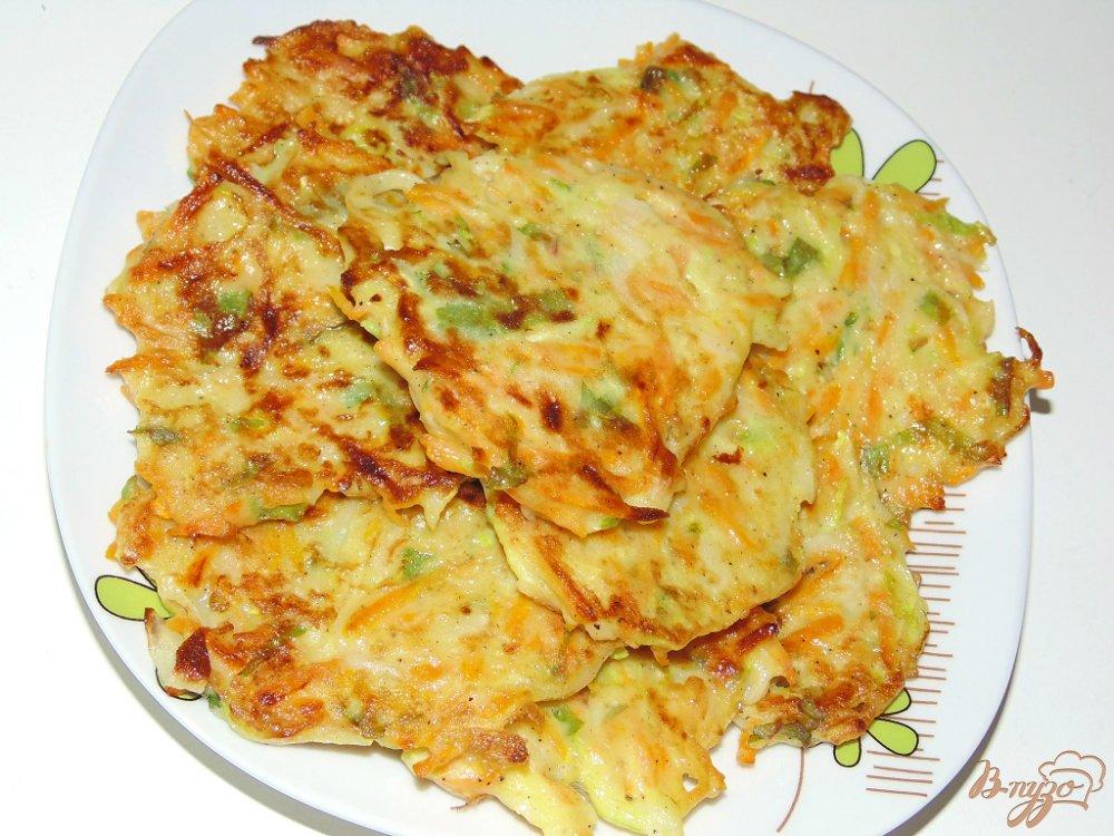 Оладьи из кабачков с луком и морковью рецепт