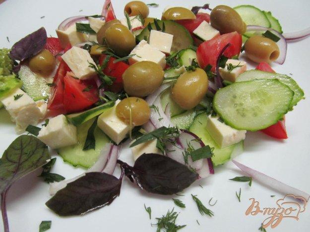 фото рецепта: Летний салат с брынзой