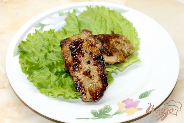 фото рецепта: Свиной балык в медово - горчичном маринаде