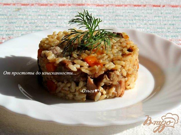 фото рецепта: Плов со свининой, адыгейской солью и томатами