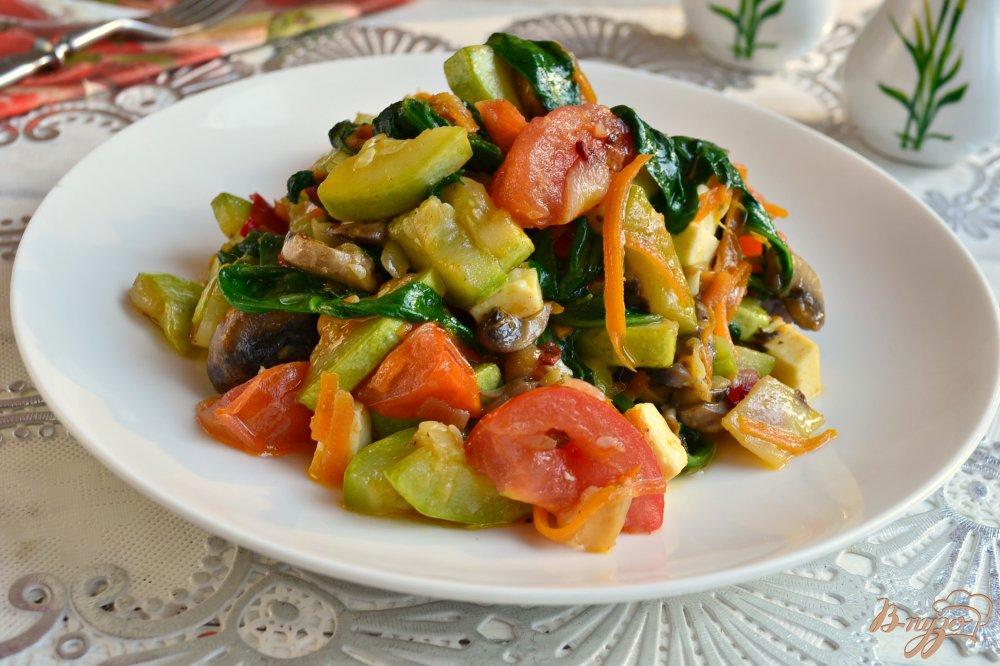 шпинат с овощами рецепт-хв8