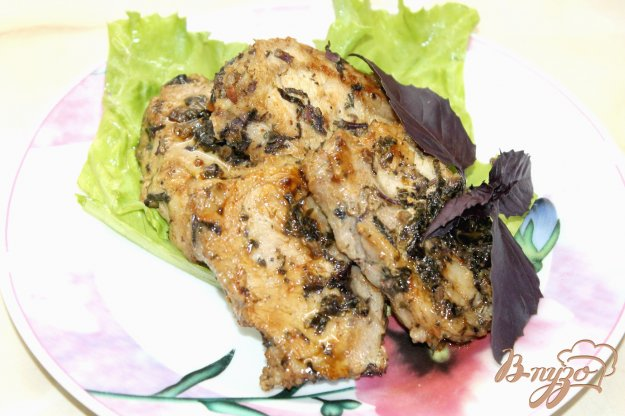 фото рецепта: Свинина с прослойкой сала маринованная в неострой горчице и пряностях