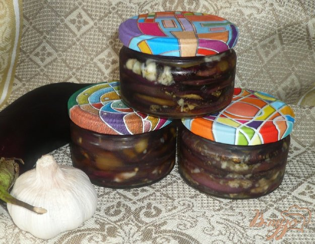 фото рецепта: Острые баклажаны на зиму
