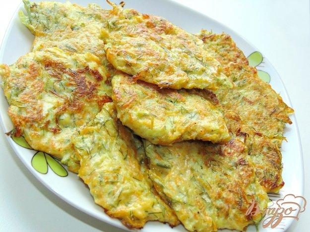 фото рецепта: Морковно-кабачковые оладьи
