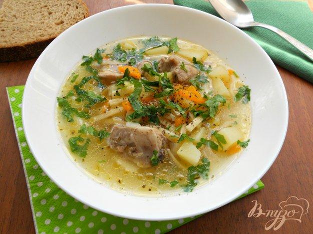 фото рецепта: Суп со свининой и лапшой в мультиварке
