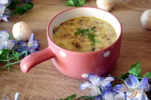 фото рецепта: Грибной суп с сыром
