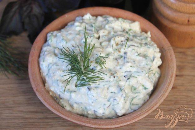 фото рецепта: Творожный соус с зеленью и чесноком