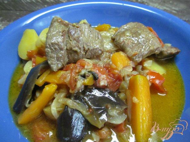 фото рецепта: Овощное рагу с бараниной в мультиварке