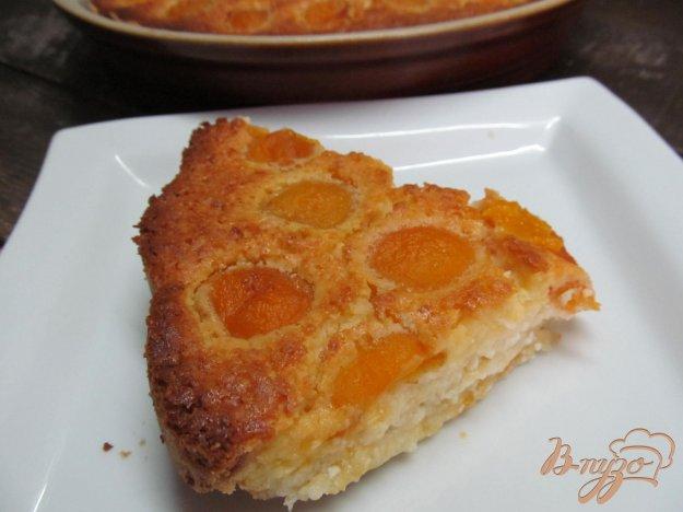 фото рецепта: Большая песочная ватрушка с абрикосом