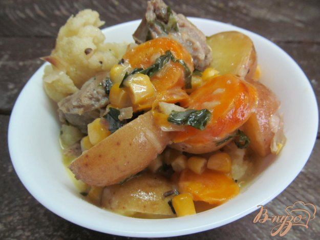 фото рецепта: Овощное рагу с цветной капустой в мультиварке