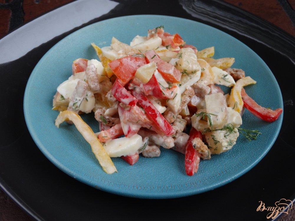 Салат с сухариками болгарским перцем рецепт с