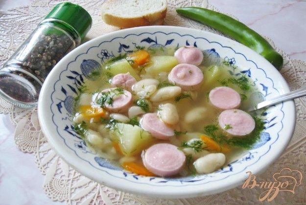 фото рецепта: Фасолевый суп с сосисками