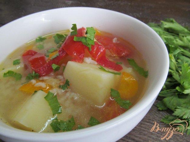 фото рецепта: Суп с рисом на баранине